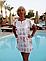 Женская пляжная туника с принтом.Размер: S M L XL XXL(фр) 3 цвета, фото 3