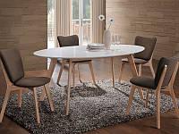 Стол обеденный деревянный MONTANA Signal белый
