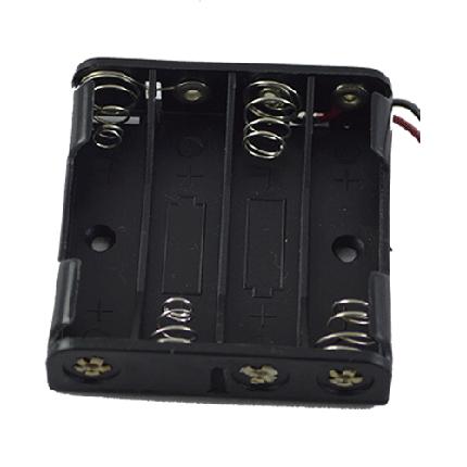 Кассета для 4 батареек типа ААA плоская, фото 2