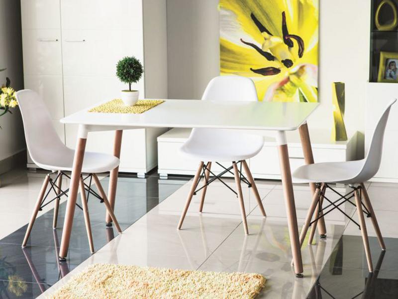 Стол обеденный деревянный NOLAN Signal белый