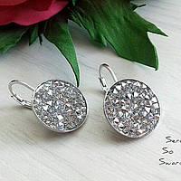 Серьги родий с кристаллами Swarovski