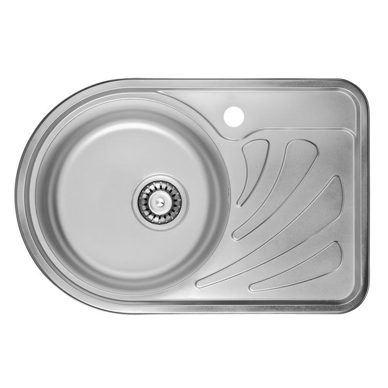 Врезная мойка для кухни из нержавеющей стали ULA 7111 ZS Polish 08 (L) (6744 )