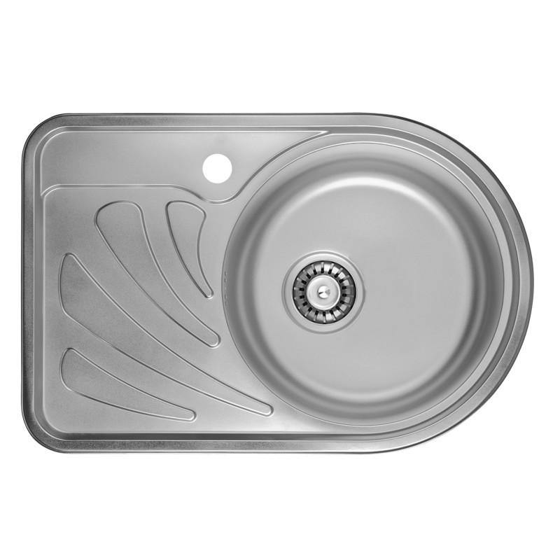 Врезная мойка для кухни из нержавеющей стали ULA 7111 ZS Micro Decor 08 (R) ( 6744 )
