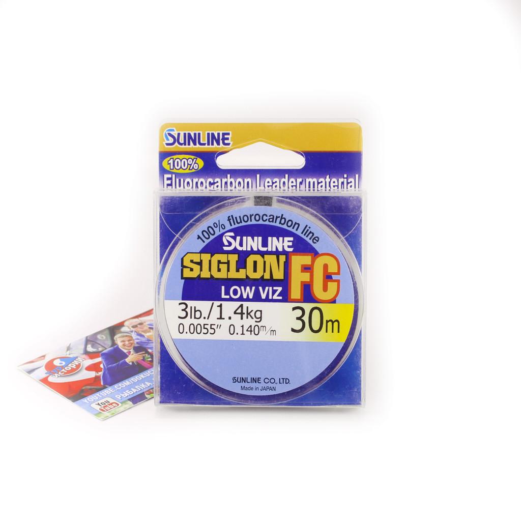 Флюорокарбон Sunline SIG-FC 30м 0.140мм 1.4кг Поводковый