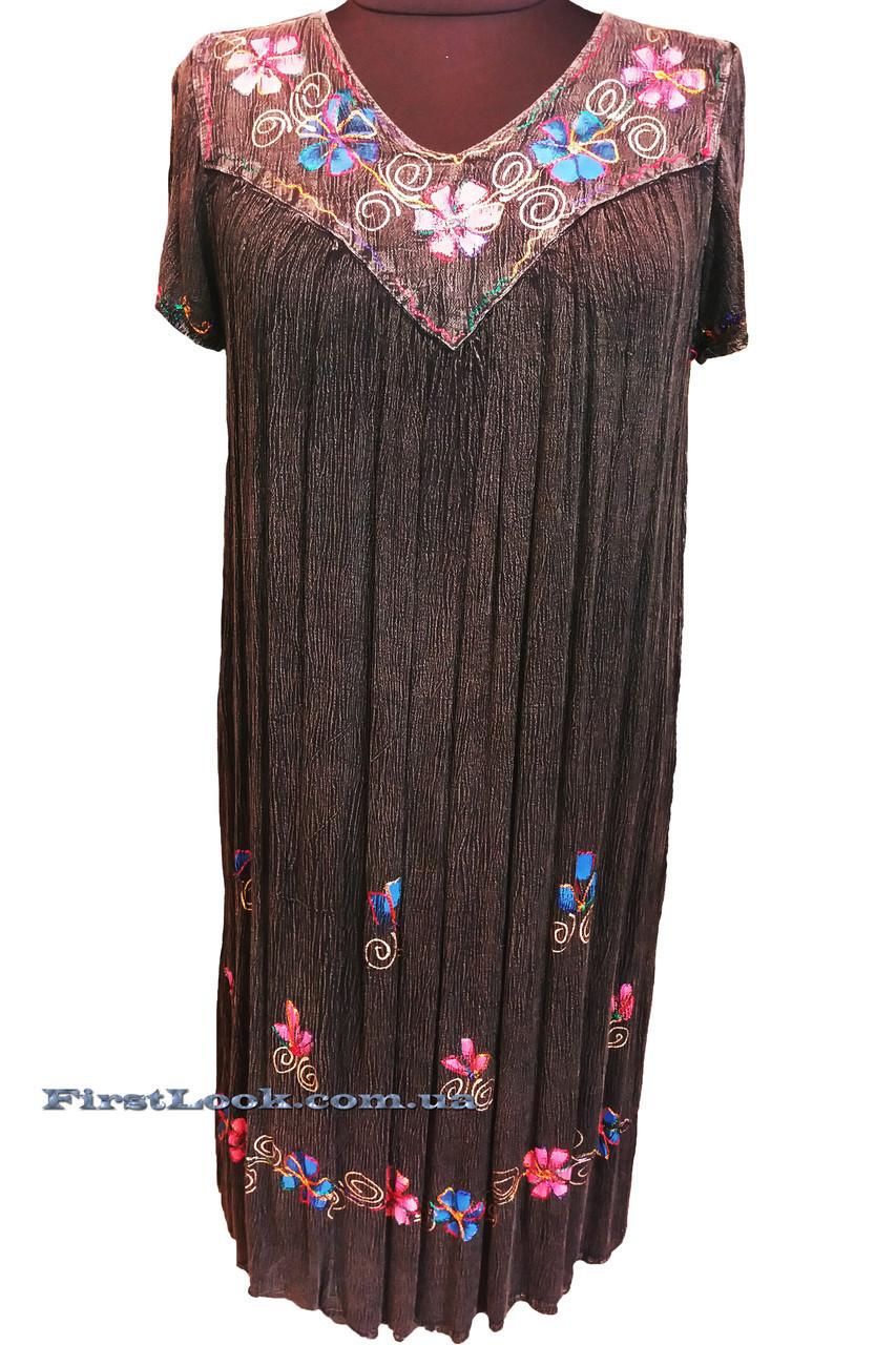 Легкое пляжное женское платье ламбада (с 52 по 68 размер)