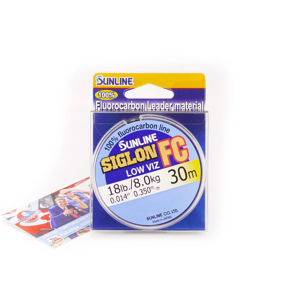Флюорокарбон Sunline SIG-FC 30м 0.350мм 8.0кг Поводковый