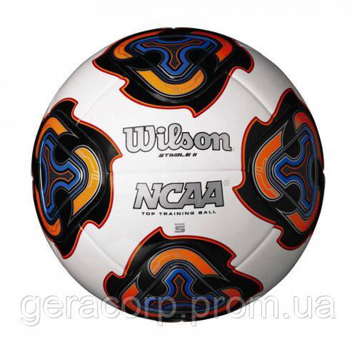 Мяч футбольный W NCAA STIVALE II SB WHITE SZ5 SS18 белый/черный/синий/оранжевый