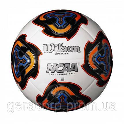 Мяч футбольный W NCAA STIVALE II SB WHITE SZ5 SS18 белый/черный/синий/оранжевый, фото 2