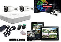 Комплект ColorVu камер Hikvision DS-2CE10DFT-F - ночная съемка в цвете