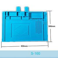 Коврик силиконовый теплоизоляционный для ремонта телефонов AIDA S-160 (450х295mm)