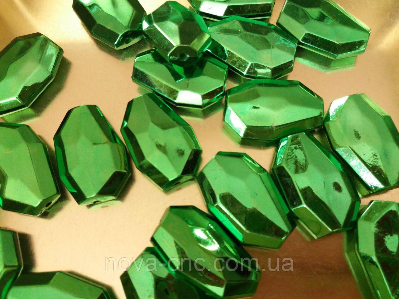 "Бусины  ""кристалл"" зеленый 500 грамм"
