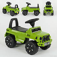 Каталка-толкар Джип зеленый, звуковые и световые эффекты деткам от 1 года