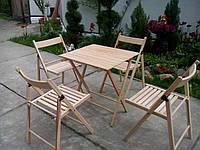 Набор складной мебели для дачи из дерева бук