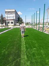 Укладка монофиламентной синтетической травы  8