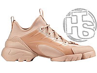Женские кроссовки Dior D-Connect Sneaker in Nude Neoprene KCK222NGG_S12U