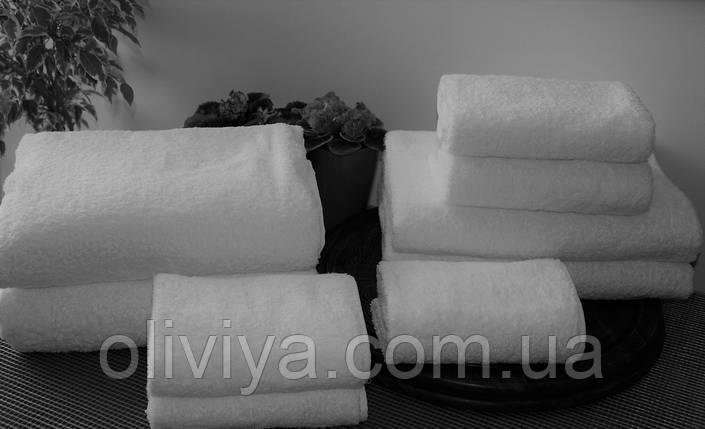 Махровое полотенце для гостиниц белое 50х90, фото 2
