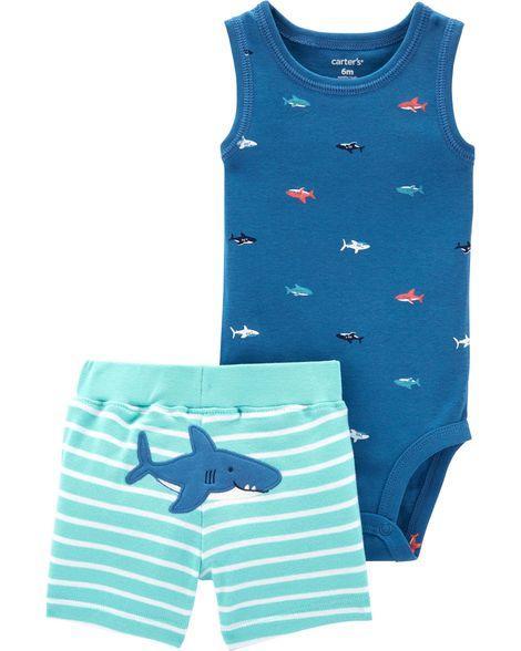 Комплект двойка для мальчика Картерс (Carter's) голубой 9М  (69-72 см)