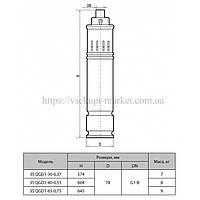 Скважинный насос SPRUT 3S QGD 1-65-0,75