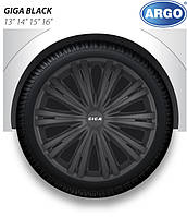 Колпаки колесные Argo дизайн GIGA BLACK / радиус R16/ 4шт