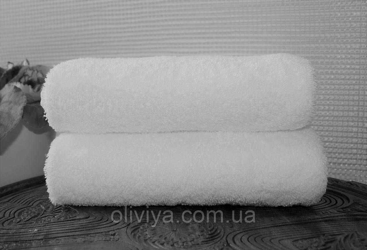 Полотенце для гостиницы 100х150 (белое)