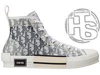 Женские кроссовки Dior B23 High-Top Sneakers in Dior Oblique 3SH118YJP_H069