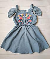 Летнее платье на девочку с вышивкой C&A Германия Размер 134, 140