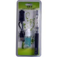 Электронная сигарета eGo, CE5 1100mAh + жидкость (Блистерная упаковка) №609-31 Черная