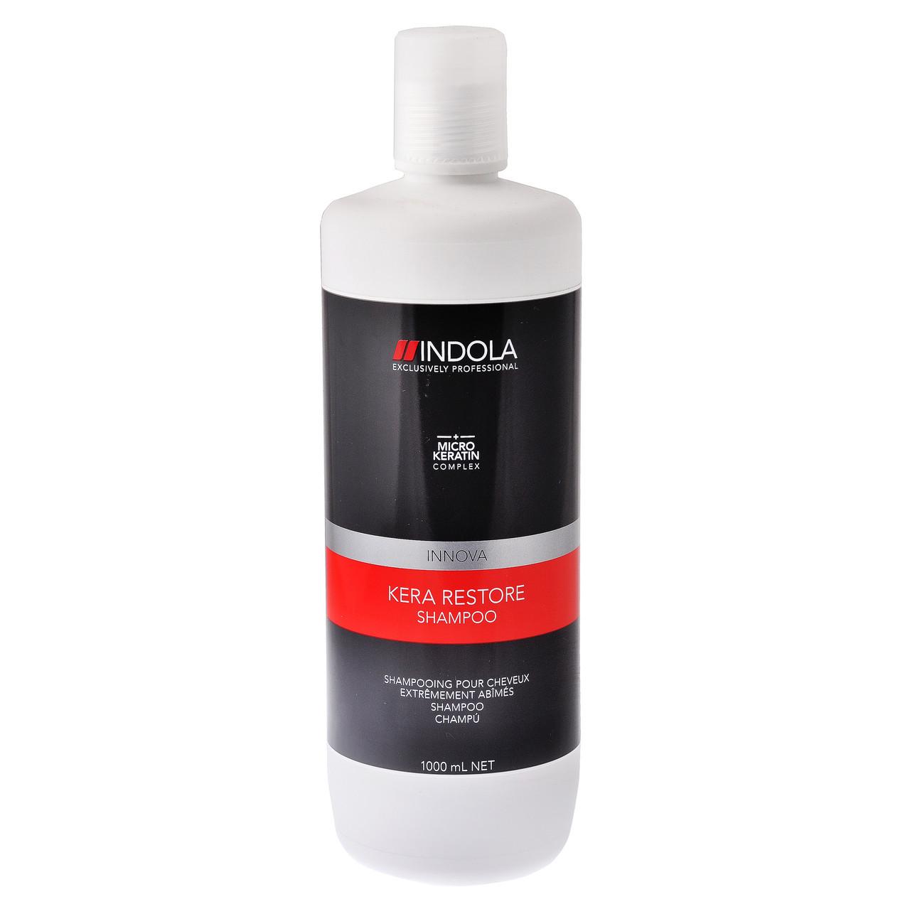 Восстанавливающий шампунь Indola Innova Kera Restore Shampoo, 1000 мл