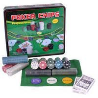 Покерный набор в металлической коробке на 500 фишек с номиналом №500T
