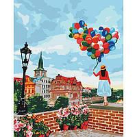 Картина по номерам на холсте Гуляя по праге, KHO3518