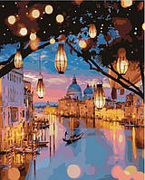 Картина по номерам на холсте Ночные огни Венеции, GX24915
