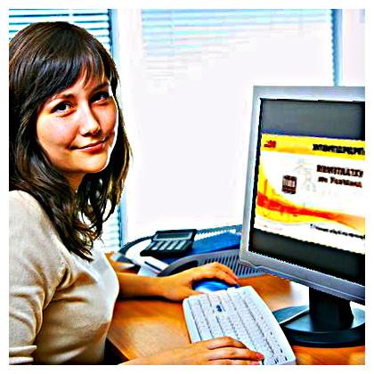 Студентка - будущий бухгалтер учится на курсах бухучета в ИИБТ, Киев