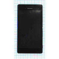 Модуль (дисплей + сенсор) Sony D2302 / D2305 / Xperia M2 Dual + Touchscreen With Frame Orig Black