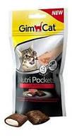 Витаминизированное лакомство для котов и кошек Gimpet Nutri Pockets говядина+солод, 60 г