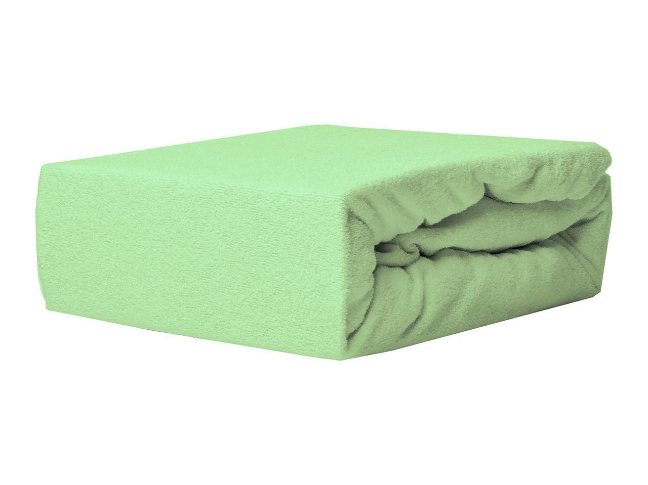Простыня Махровая На резинке NR 029 P.P.H.U. J&M 6078 140x200 см Зеленая
