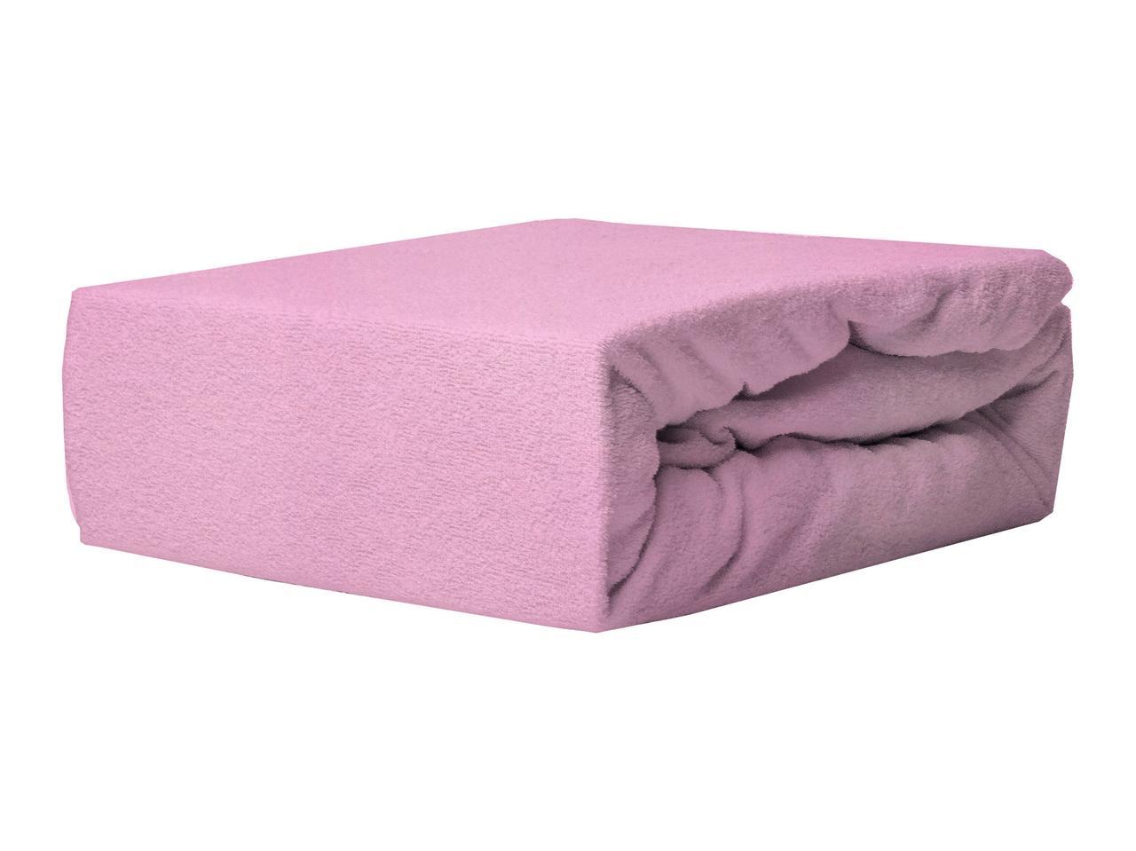 Простыня Махровая На резинке NR 020 P.P.H.U. J&M 6061 140x200 см Фиолетовая