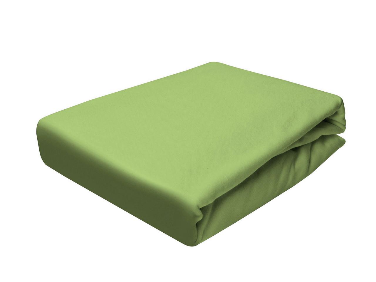 Простыня Трикотажная На резинке NR 036 P.P.H.U. J&M 5422 160x200 см Зеленая