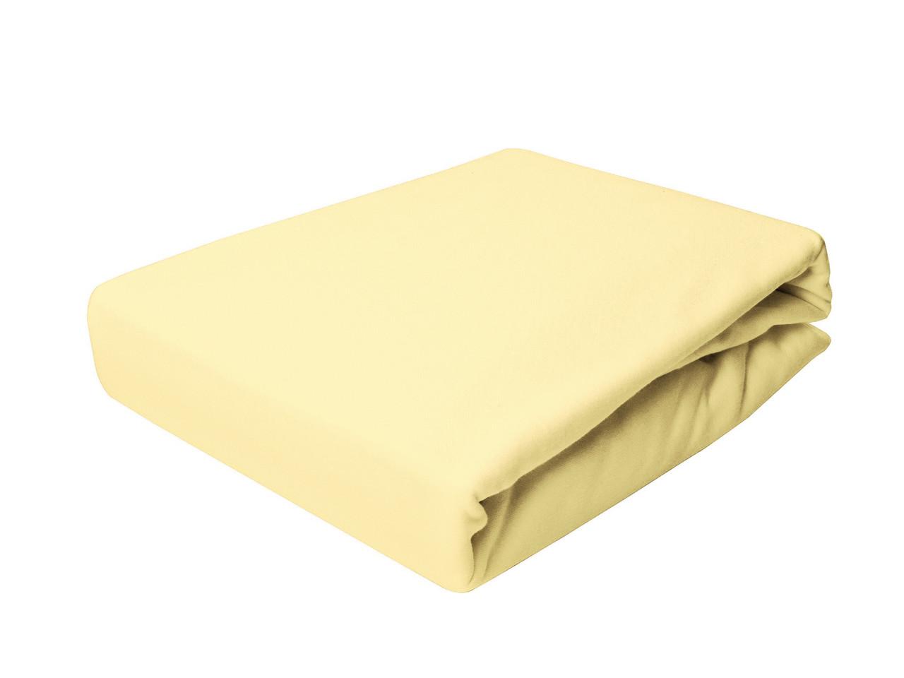 Простыня Трикотажная На резинке NR 003 P.P.H.U. J&M 5330 160x200 см Желтая