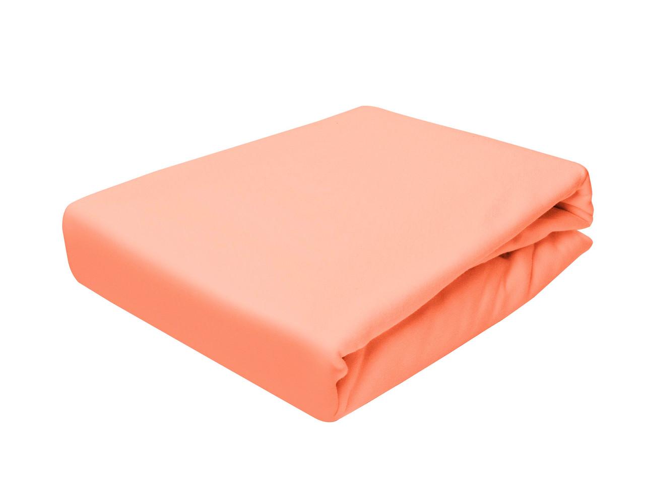 Простыня Трикотажная На резинке NR 001 P.P.H.U. J&M 5576 200x220 см Оранжевая
