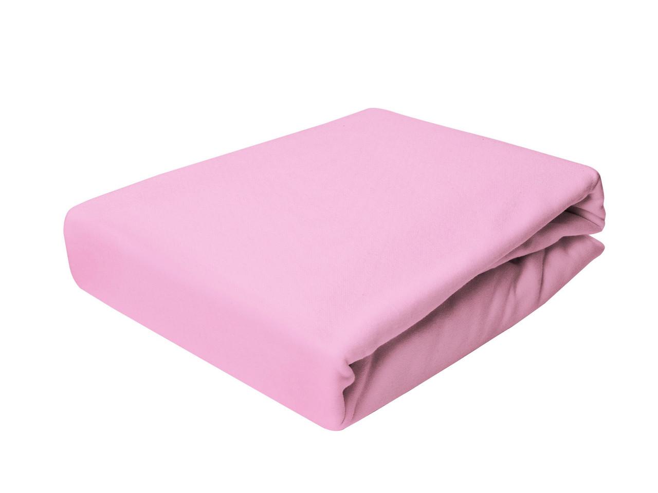Простыня Трикотажная На резинке NR 002 P.P.H.U. J&M 5583 200x220 см Розовая