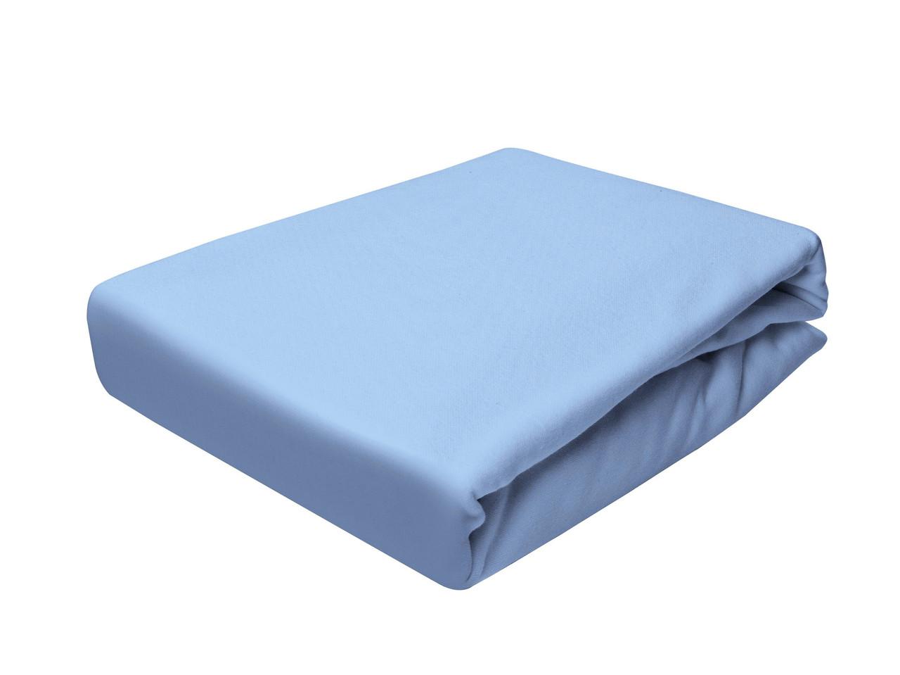 Простыня Трикотажная На резинке NR 017 P.P.H.U. J&M 5378 160x200 см Синяя