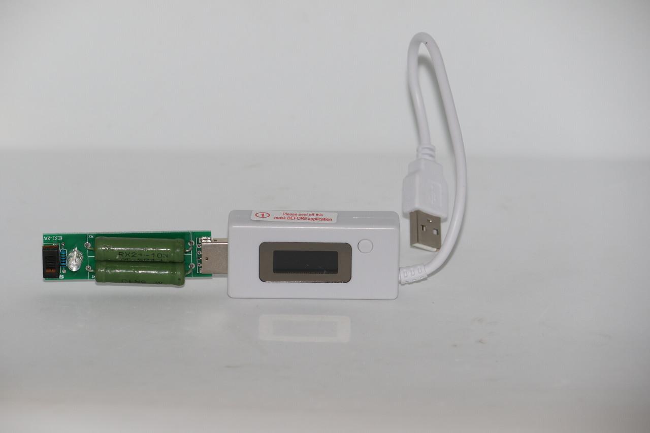 USB тестер KCX-017 измеритель тока напряжения потребляемой энергии+нагрузка (4-30V; 0A-5.1A)