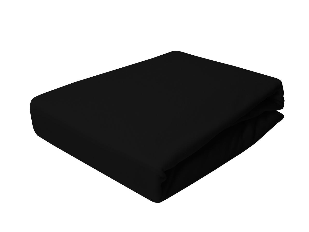 Простыня Трикотажная На резинке NR 002D Darymex 7824 90x200 см Черная