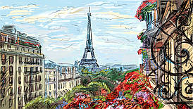 Картина для современного интерьера на стекле  30х40 см Париж 3
