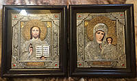 Венчальная пара с филигранью №15 серебро, фото 1