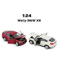 "Машина Welly, ""BMW X6 "", металлическая, масштаб 1:24, 24004W"