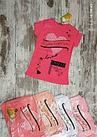"""Футболка подростковая """"Myself"""" для девочек. 9-10-11-12 лет (134-140-146-152 см). Один цвет в упаковке. Оптом"""