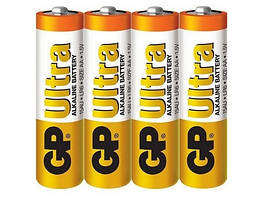 Батарейка GP ULTRA ALKALINE 1.5V 15AU-2DP40 LR6 AA 4 шт сп (HT192)
