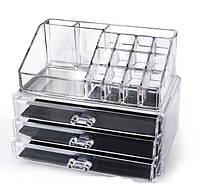 Акриловый органайзер для косметики настольный Cosmetic Organizer Makeup Container 5 отделов