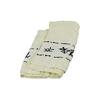 Полотенце махровое бамбуковое 140x70 см белый (HT471)